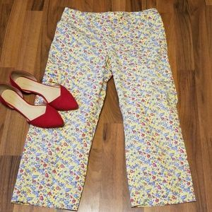 Ralph by Ralph Lauren | Crop Yellow Floral Pants